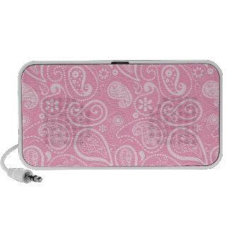 Carnation Pink Paisley; Floral Travelling Speaker