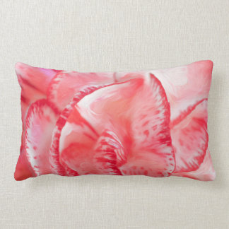Carnation Polyester Throw Pillow, Lumbar Lumbar Pillow