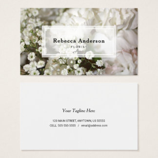Carnations & Baby's Breath Photo Business Card
