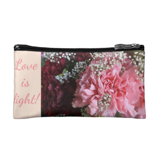 Carnations Cosmetic Bag