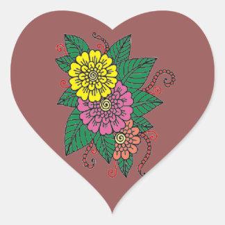 Carnations Heart Sticker