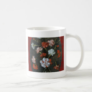 Carnations In A Glass Vase Coffee Mug