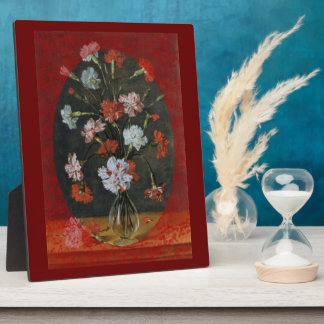 Carnations In A Glass Vase Plaque