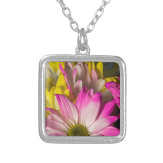 Carnations Silver Plated Necklace