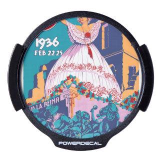 Carnaval de 1936, Feb. 22-25, Panama LED Window Decal