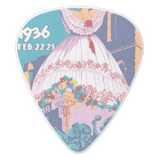 Carnaval de 1936, Feb. 22-25, Panama White Delrin Guitar Pick