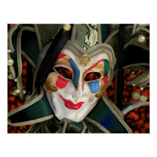 Carnaval Mask Poster