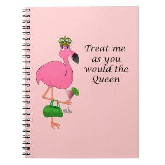 Carnet de flamant de la Reine
