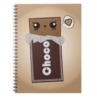 Carnet mignon de barre de chocolat