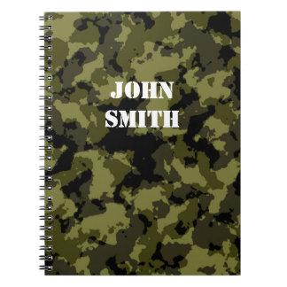 Carnet Motif militaire de style de camouflage