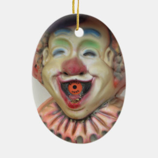 Carney Clowns Ceramic Oval Ornament
