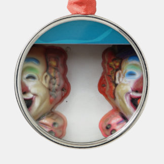 Carney Clowns Silver-Colored Round Ornament