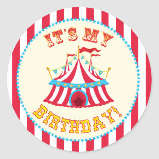 Carnival and Circus Party Round Sticker