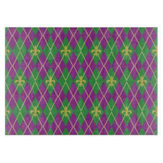 Carnival Argyle Glass Cutting Board