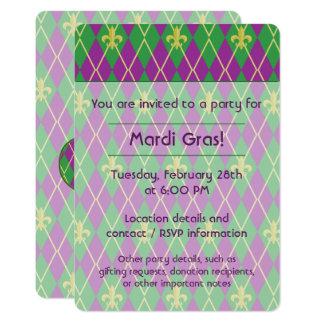 Carnival Argyle Party Invitation