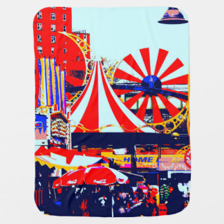 Carnival at Coney Island Baby Blanket