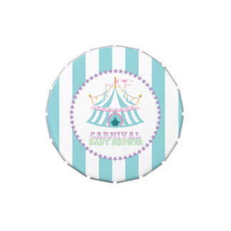 Carnival Baby Shower Party Favors, Candy Tin