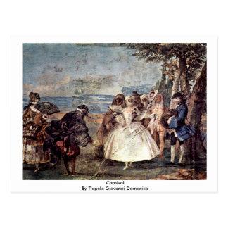 Carnival By Tiepolo Giovanni Domenico Postcard