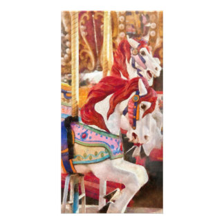 Carnival - Carousel Horses Photo Cards