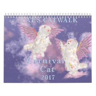 Carnival Cat 2017 Calendar