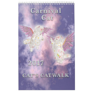 Carnival Cat 2017 Single Page Calendar
