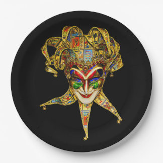 Carnival Character Mardi Gras Party Paper Plate