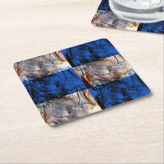 carnival chest square paper coaster