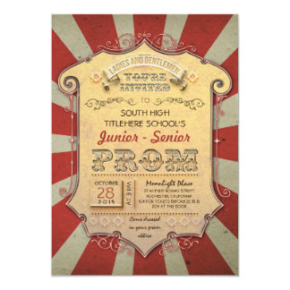 carnival - circus vintage prom card