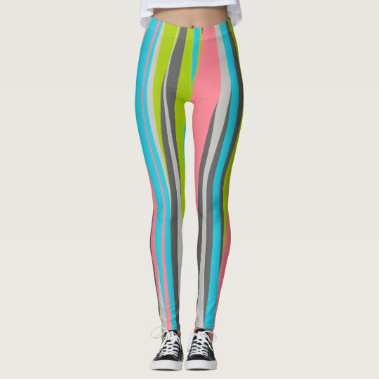 Carnival Cotton Candy Striped Leggings