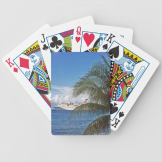 Carnival cruise ship docked at Grand Cayman Bicycle Playing Cards