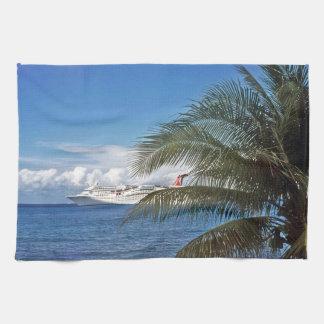 Carnival cruise ship docked at Grand Cayman Hand Towel
