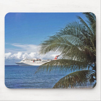Carnival cruise ship docked at Grand Cayman Mouse Pad