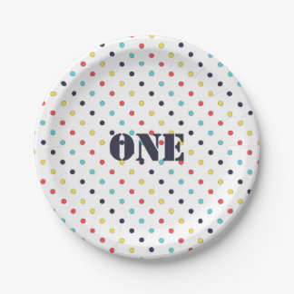 Carnival Dot Paper Plate {Editable Text}