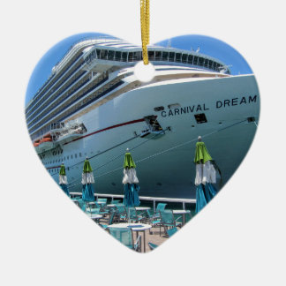 Carnival Dream in Key West Ceramic Heart Ornament