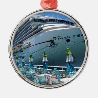 Carnival Dream in Key West Silver-Colored Round Ornament