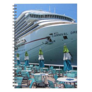 Carnival Dream in Key West Spiral Notebook