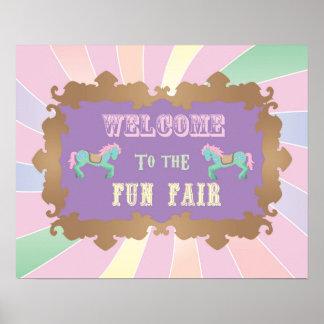 Carnival - Funfair -Pastel - Birthday - Sign