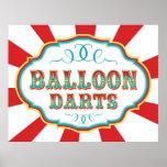 Carnival Game Sign Balloon Darts