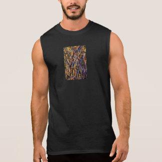 Carnival Glass Grass With Orange Mold Fungus Sleeveless Shirt