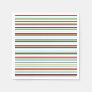 Carnival Horizontal Stripe Napkin Paper Napkins