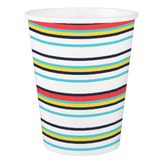Carnival Horizontal Stripe Paper Cup