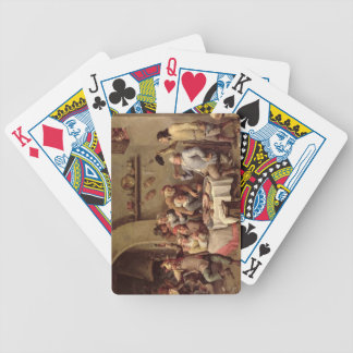 Carnival: 'Le Roi Boit', 1690 (oil on copper) Bicycle Playing Cards