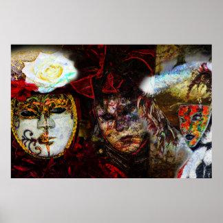 Carnival Mask Group Poster