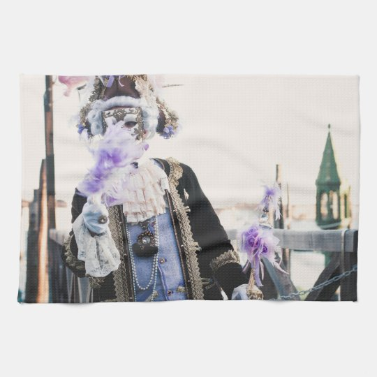 Carnival mask in Venice Hand Towels