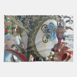 Carnival mask kitchen towel