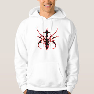 Carnival Mask Tribal Tattoo - black and red Hooded Sweatshirts