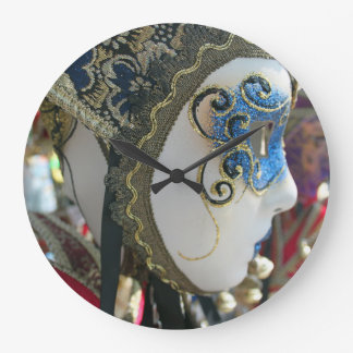 Carnival mask wall clock