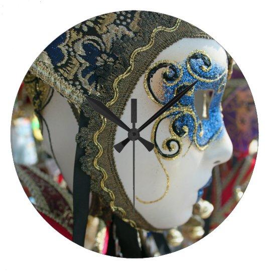 Carnival mask wall clock