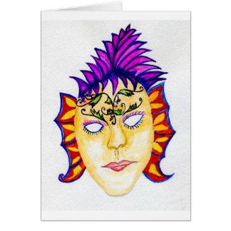 Carnival Mask Watercolor 2 Card