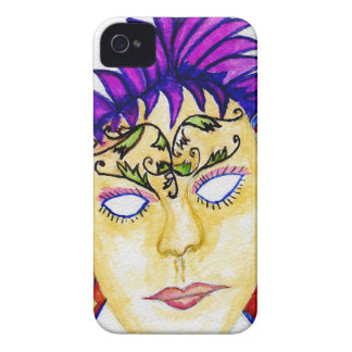 Carnival Mask Watercolor 2 iPhone 4 Cover